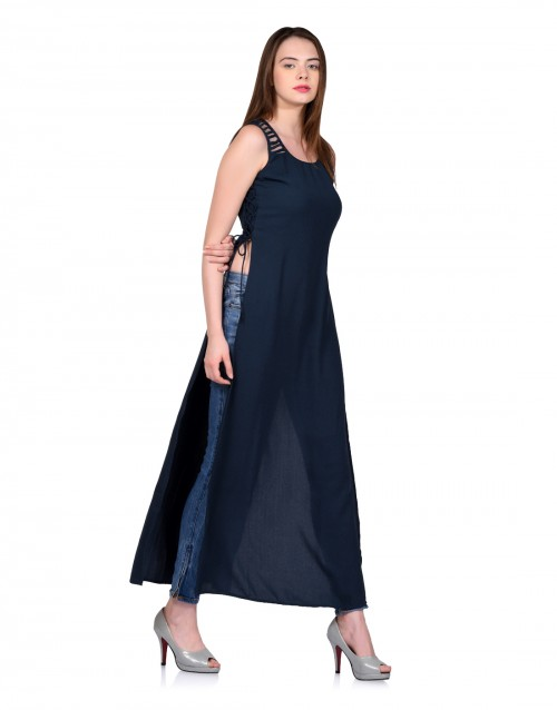 The Crossover Maxi Top-Blue