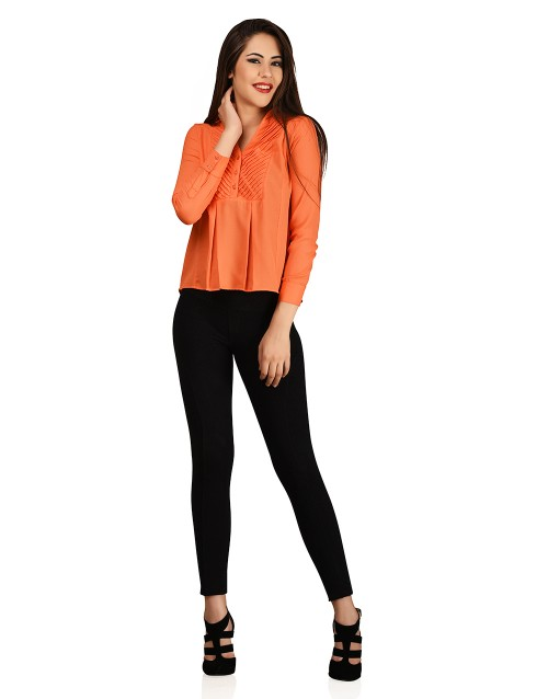Tiny Tucks Top-Orange
