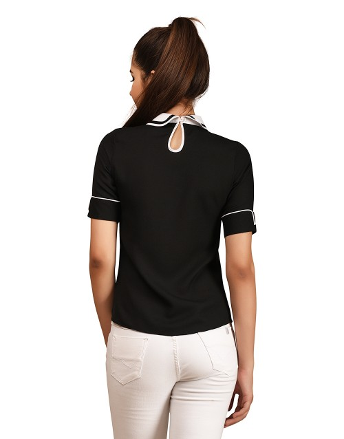 Collared Top-Black
