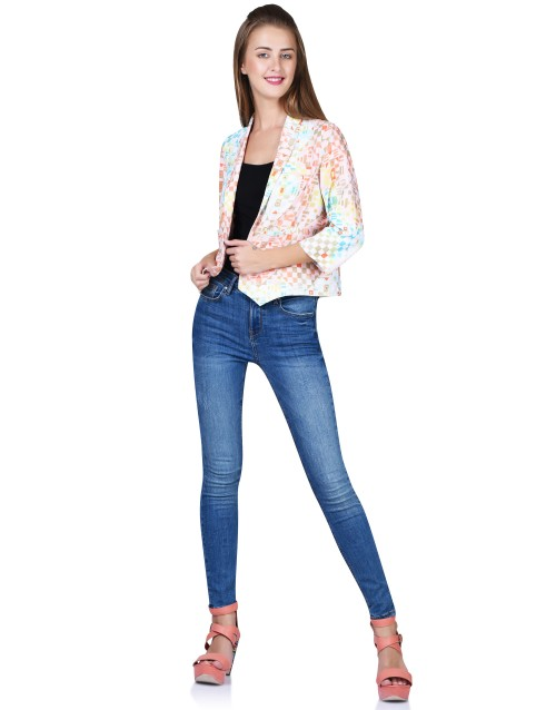 Multicolored Printed Blazer
