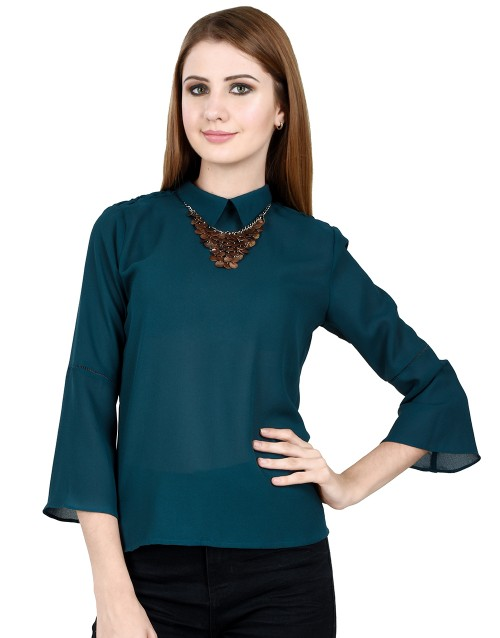 High on style-Turquoise Top