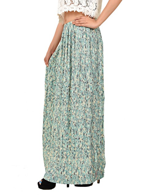 Retro Style Pleated Skirt-Mint