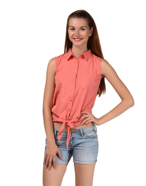 Knot Shirt-Peach