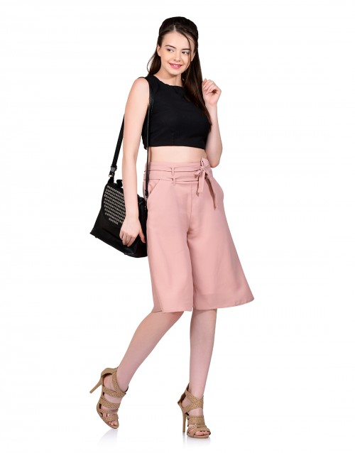 Maximum Style Culottes-Peach