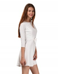Bow 'in' Style Dress-White
